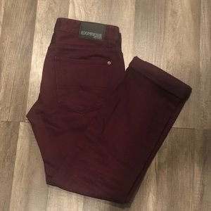 Express Maroon Jeans